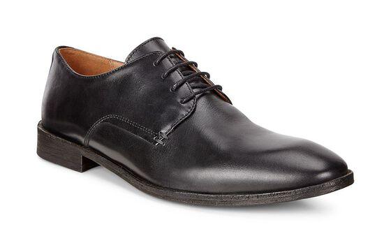 LEEDS Plain Toe Tie (BLACK)