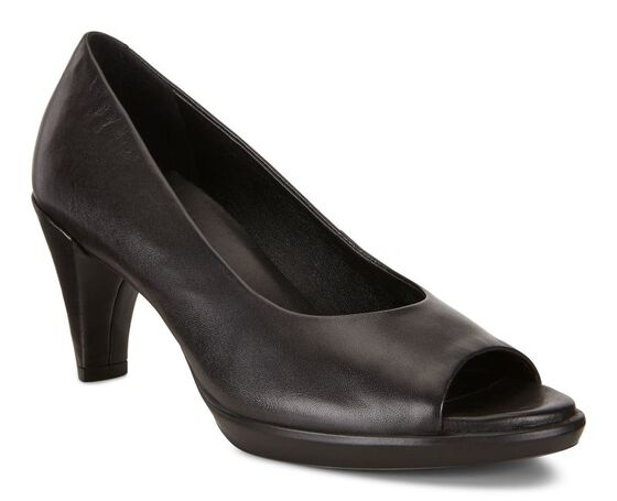 SHAPE PEEP TOE SLEEK 55mm (BLACK)