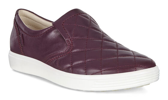 SOFT7 Ladies Quilted Slip On (MAUVE)