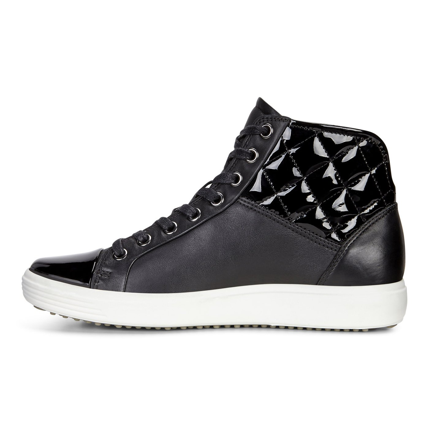 ECCO SOFT7 Ladies Quilted High Top