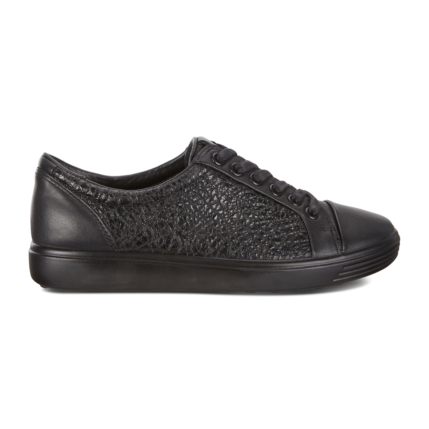 ECCO SOFT7 Womens Combination Leather Sneaker Lace