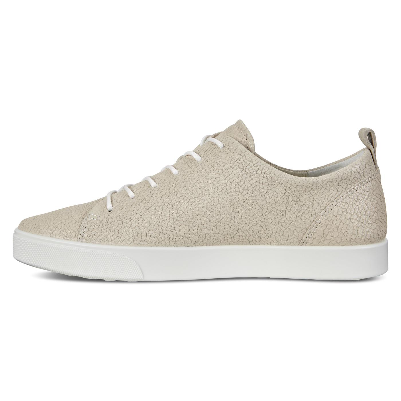 ECCO GILLIAN Cracked-Leather Sneaker Tie