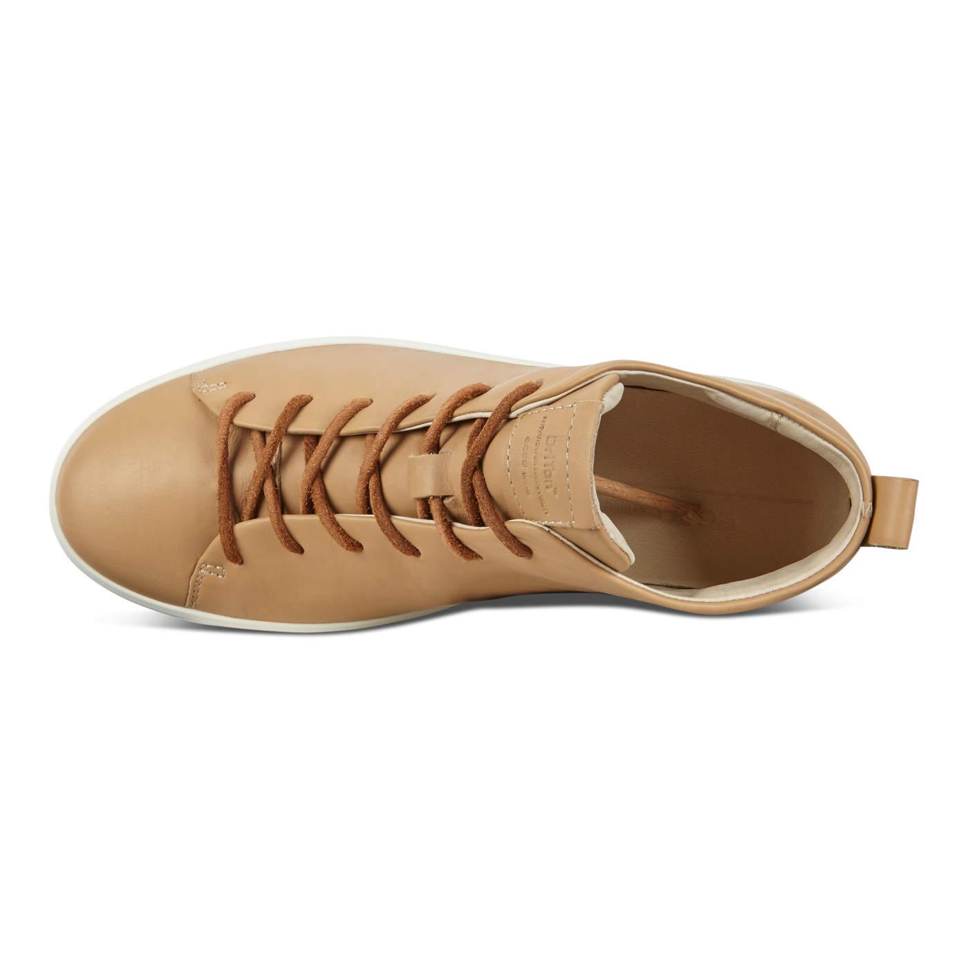 ECCO SOFT8 Womens DriTan Mid Cut Sneaker Tie