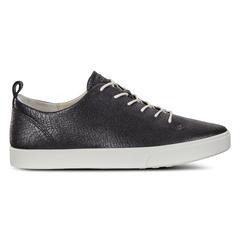 ECCO GILLIAN Cracked-Leather Sneaker Tie