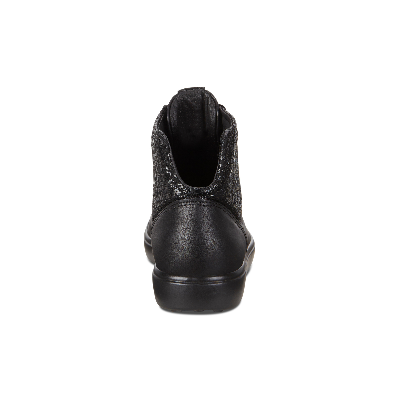 ECCO SOFT7 Womens Combination Leather High Cut Sneaker Lace