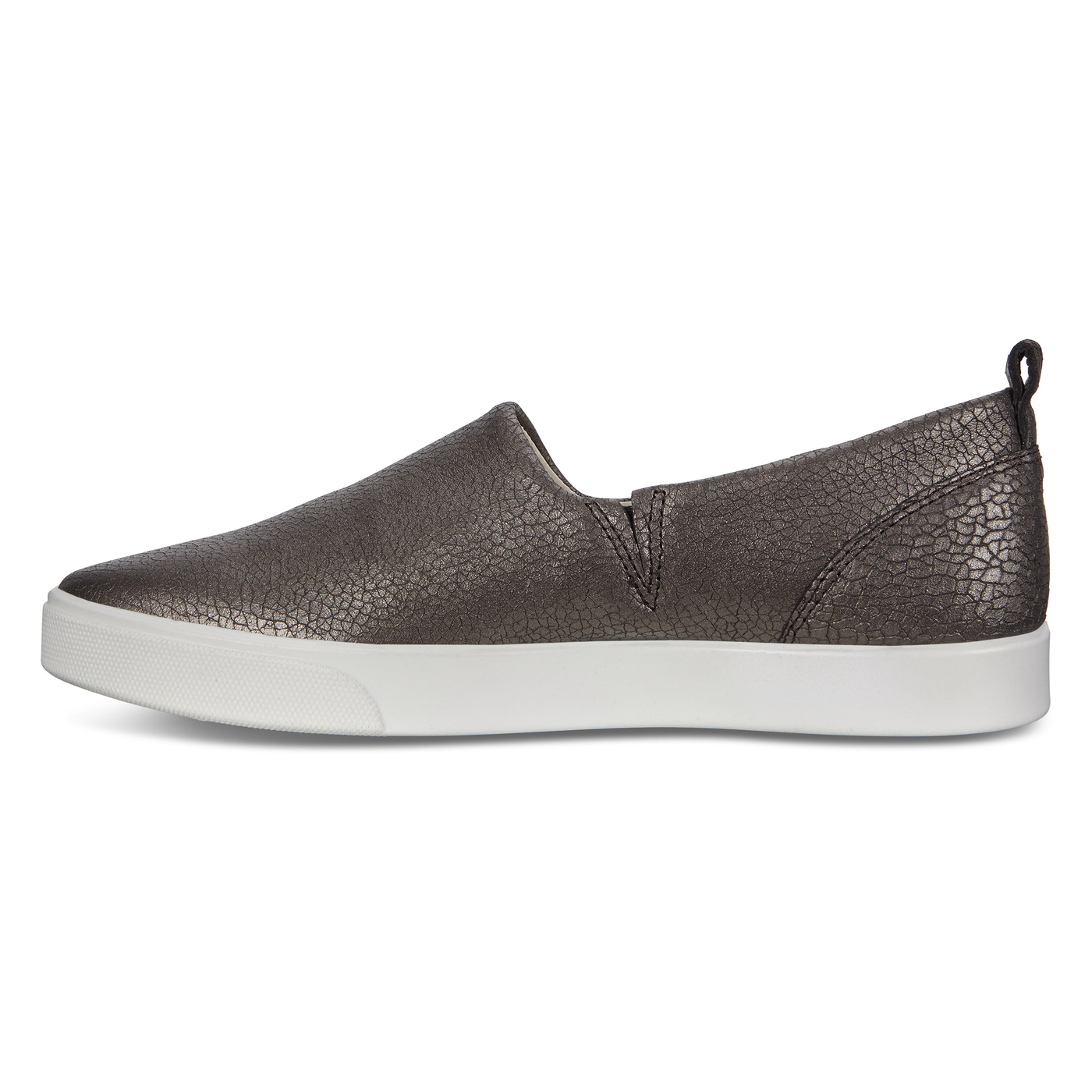 ECCO GILLIAN Cracked-Leather Sneaker Slip-On