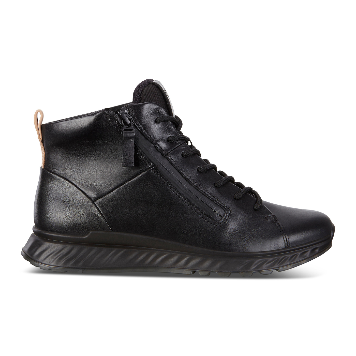 ECCO ST1 Womens High Cut Luxuary Sneaker Lace with Zip