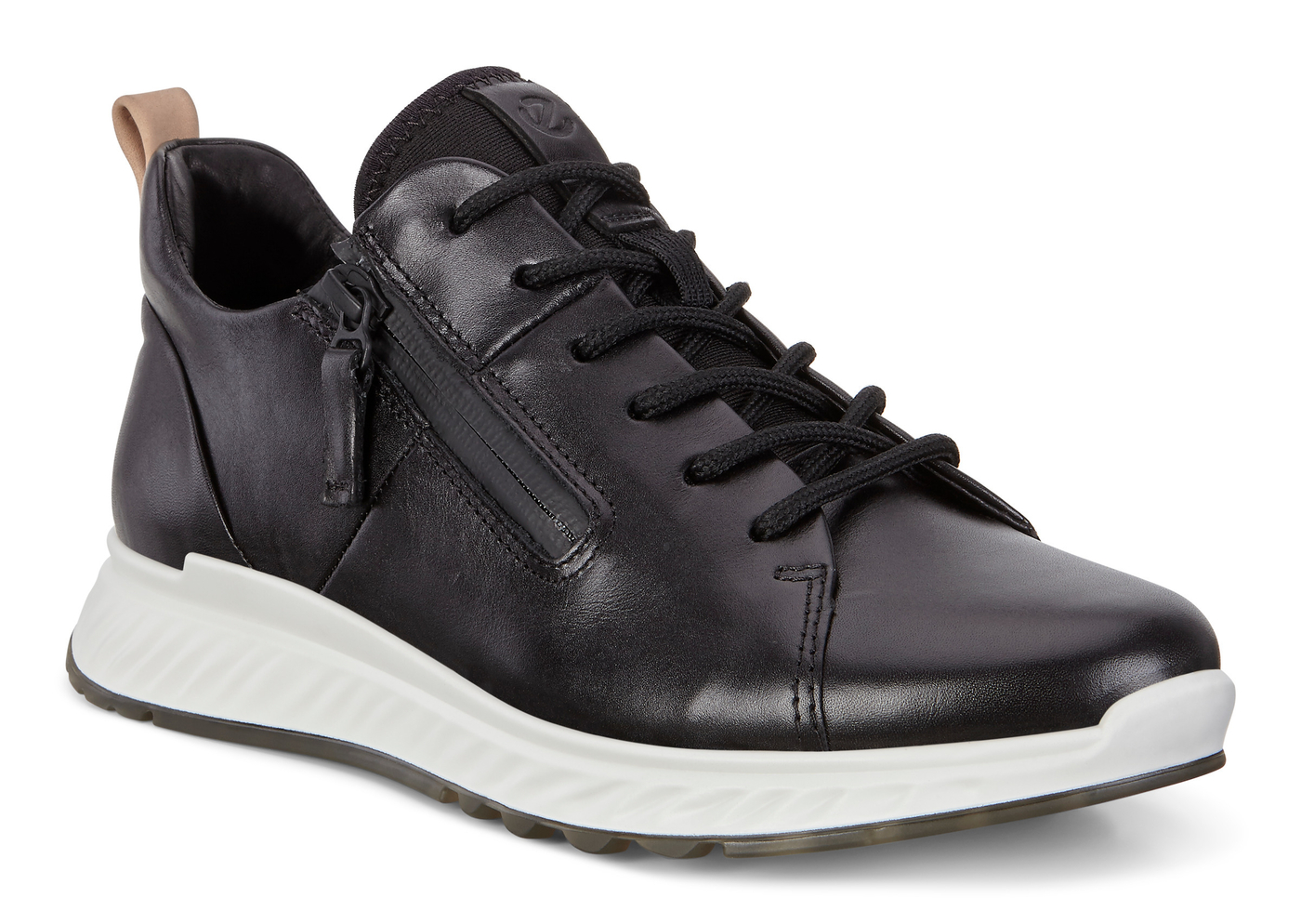 ECCO ST1 Womens Mid Cut Athleisure Sneaker Lace with Zip