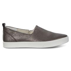 ECCO GILLIAN Cracked-Leather Sneaker Slip-On
